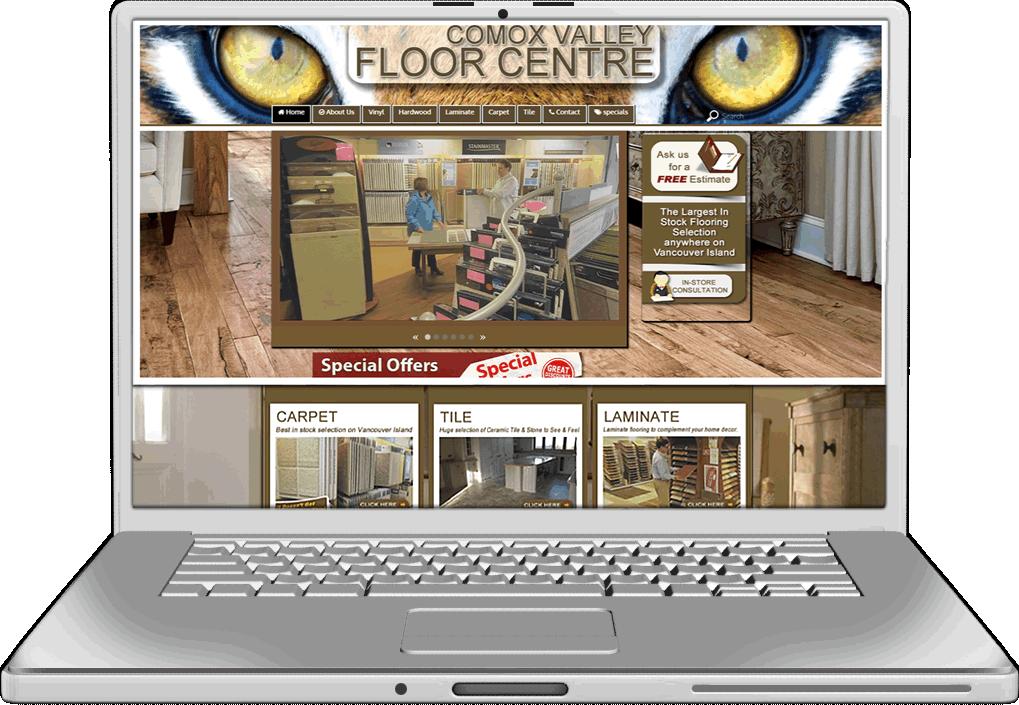Comox Valley floors Website design