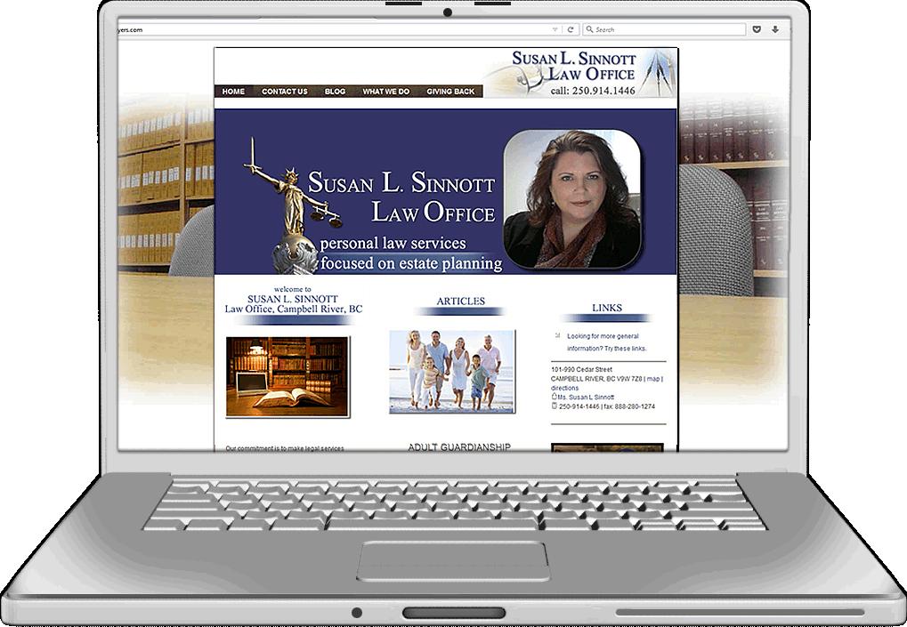 Susan Sinnott Law Office Website Design
