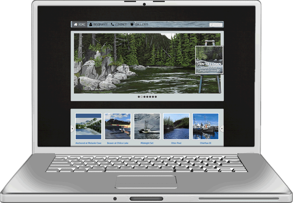 Dan Telosky Artist Website Design