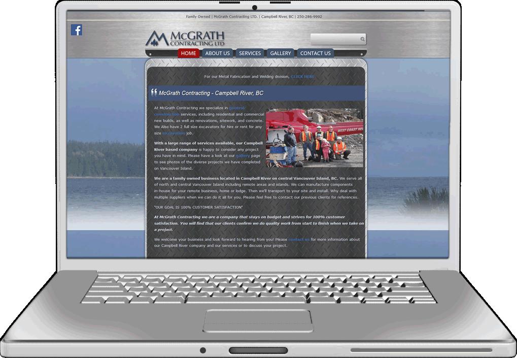McGrath Contracting Website Design
