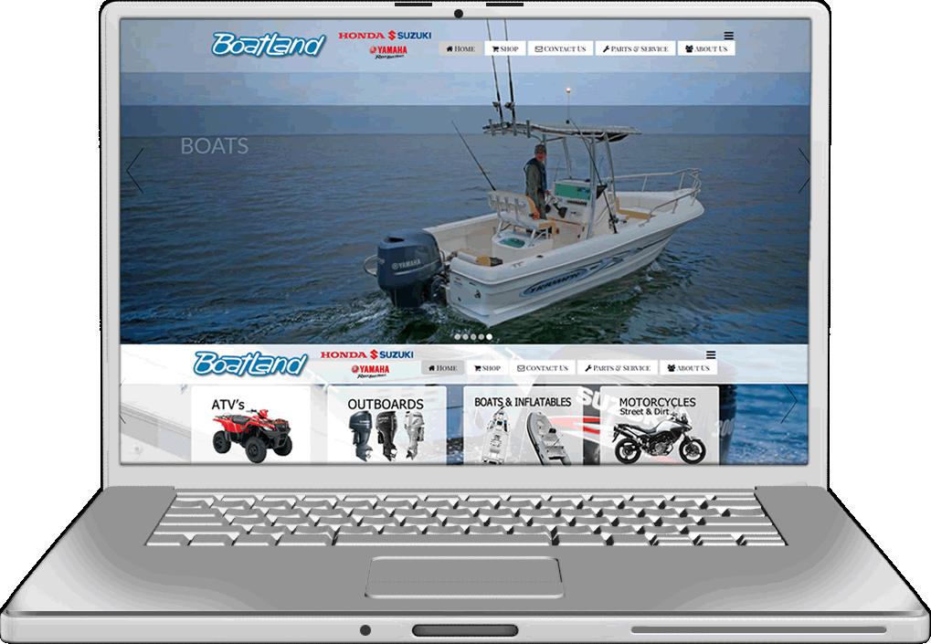 Campbell River Boatland Website Design