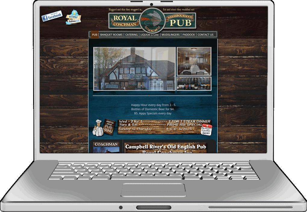 The Royal Coachman Inn Website Design
