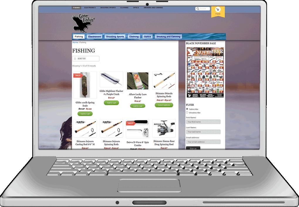Gone Fishin Website Design