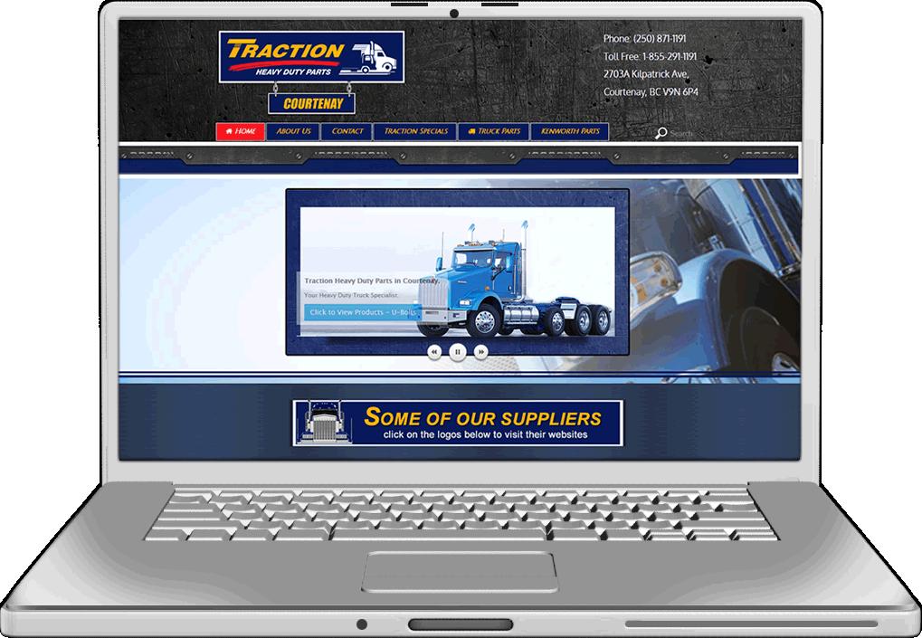 Traction Auto Parts Website Design