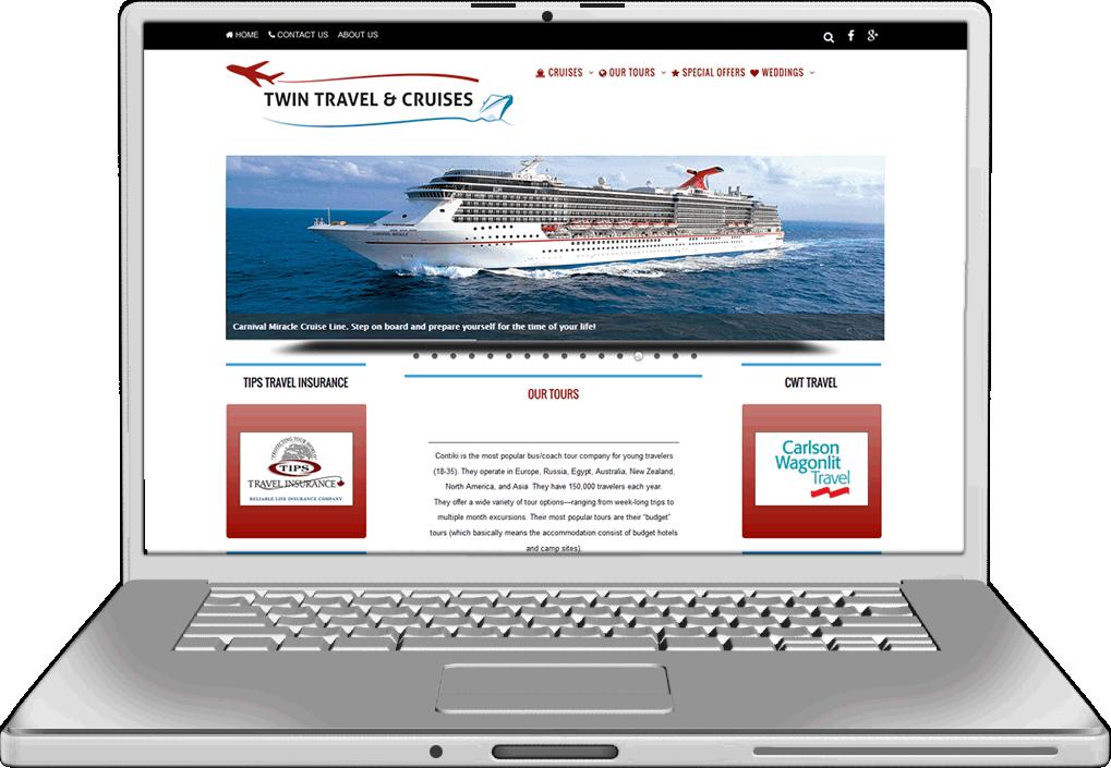 Twin Travel Website Design