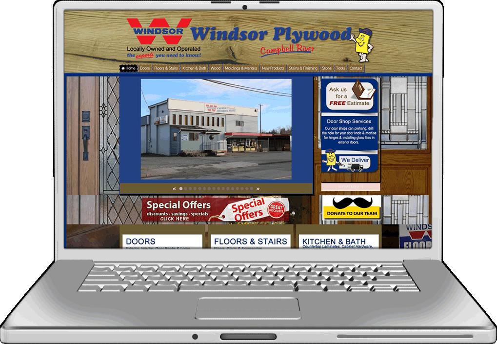 Windsor Plywood Website Design