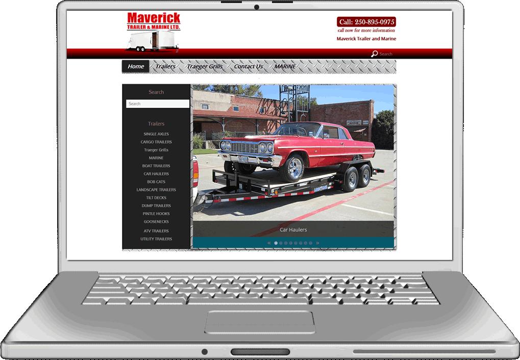 Maverick Trailer Website Design