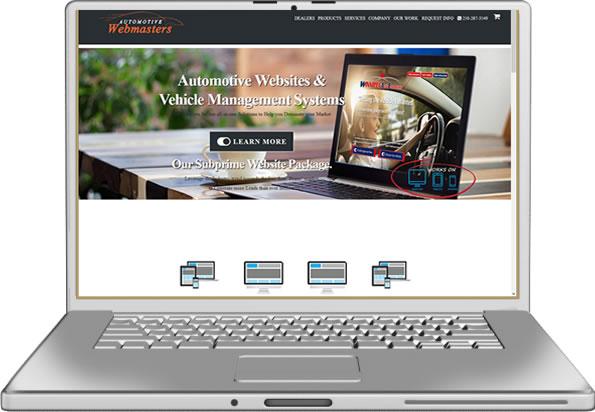 Automotive Webmasters Website Design