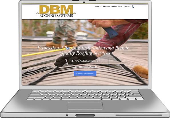 DBM Roofing Website Design