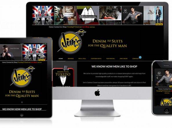 Jim's Clothes Closet Responsive Website Design