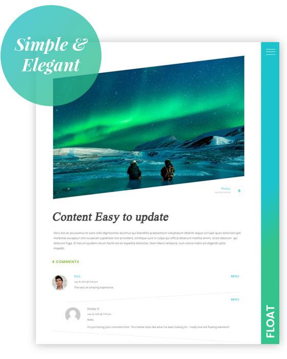 easy to update website design