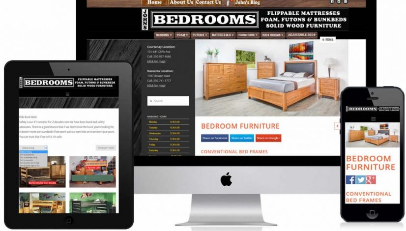 Johns Bedrooms Website Design
